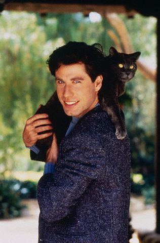 John Travolta Holding Cat