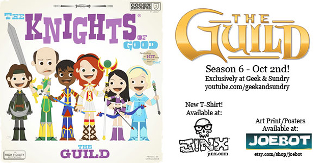 The Guild Season 6 T-Shirt Design by Joey Spiotto