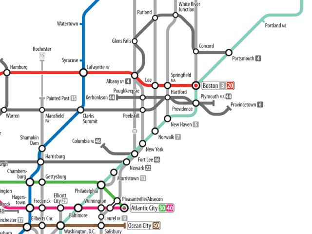 The US Highway System As A Subway Map