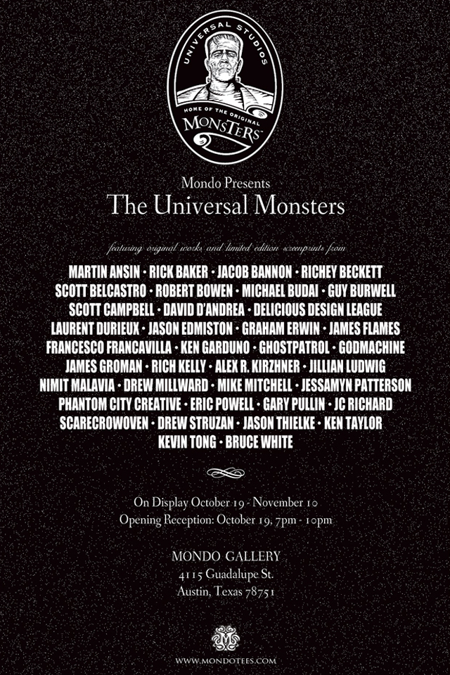 The Universal Monsters Art Show at Mondo Gallery