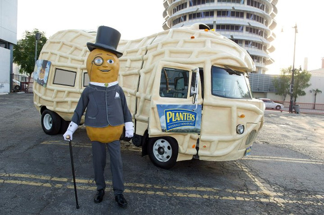 planters nutmobile with Planters Nutmobile A Peanut Shaped Vehicle Toured With Mr Peanut on 00029000073258 besides Article 9d9a3f07 3837 5204 8963 5a8556bddc8b furthermore Hot Dog Its The Oscar Mayer Wienermobile And The Planters Nutmobile in addition Planters Nutmobile A Peanut Shaped Vehicle Toured With Mr Peanut together with Meet People Americas Oddest Marketing Job Driving Planters 26 Foot Nutmobile 170922.