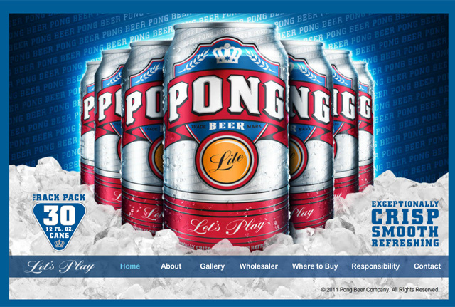 Pong Beer, Beer Made for Playing Beer Pong