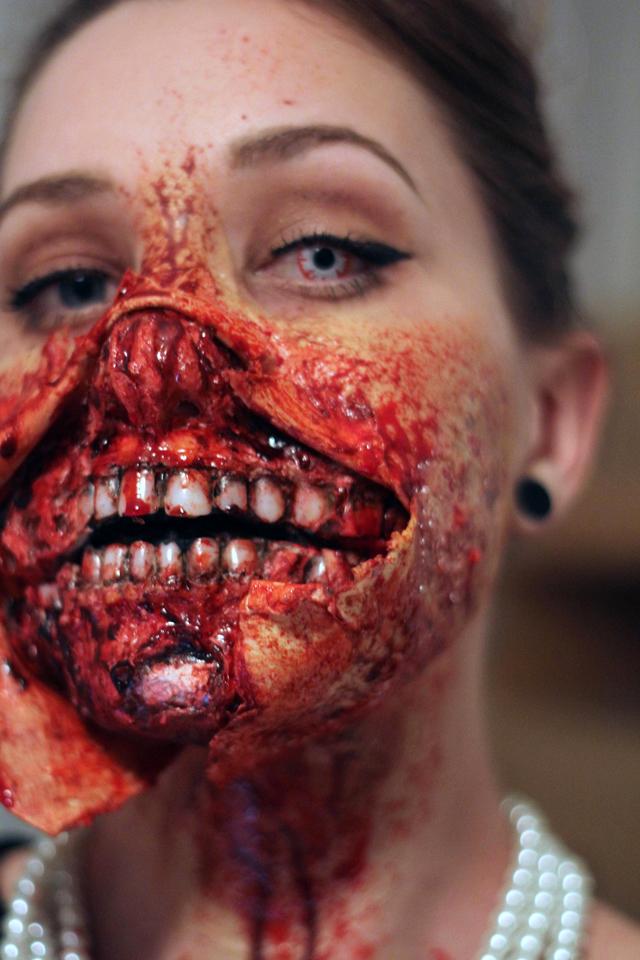 Zombie Audrey Hepburn Halloween Costume by Kiana Jones