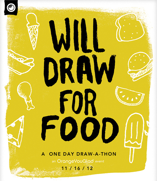 Will Draw For Food, Art From a Charity One Day Draw-A-Thon