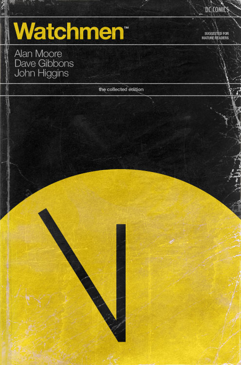 Watchmen as vintage paperback by Fonografiks