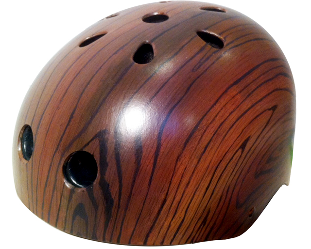 Mahogany Woodgrain by Belle Helmets