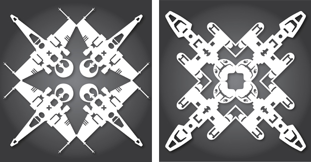 X-Wing / Y-Wing - Star Wars Snowflakes 2012 by Anthony Herrera