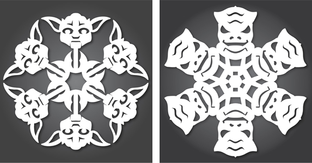 Yoda / Bossk - Star Wars Snowflakes 2012 by Anthony Herrera