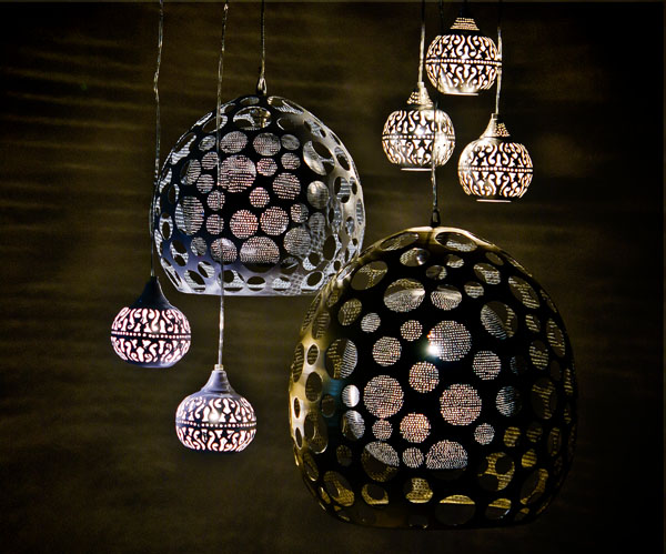Handcrafted metal light fixtures by Zenza