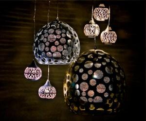 Handcrafted metal light fixtures by Zenza
