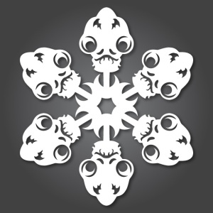 Admiral Ackbar - Star Wars Snowflake 2012 by Anthony Herrera