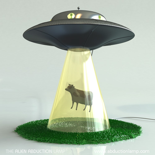 The Alien Abduction Lamp by Lasse Klein