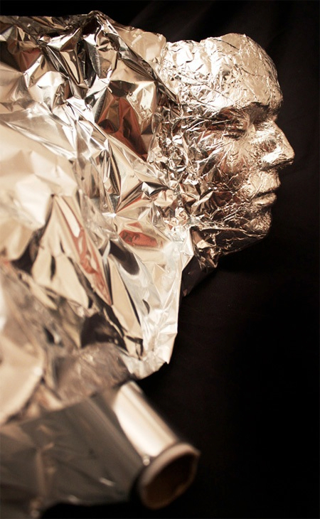 Aluminium Foil Self Portrait