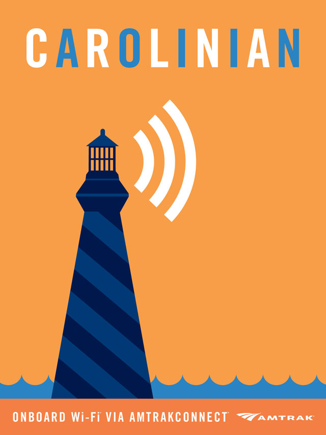 Amtrak Wi-Fi Posters