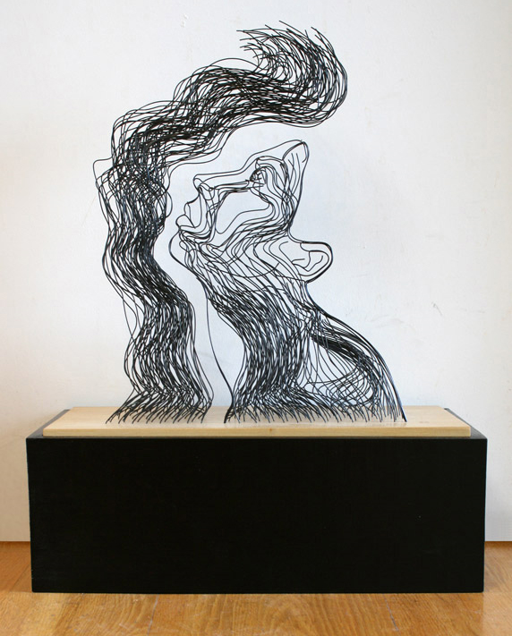 wire sculptures that look like line drawings by gavin worth