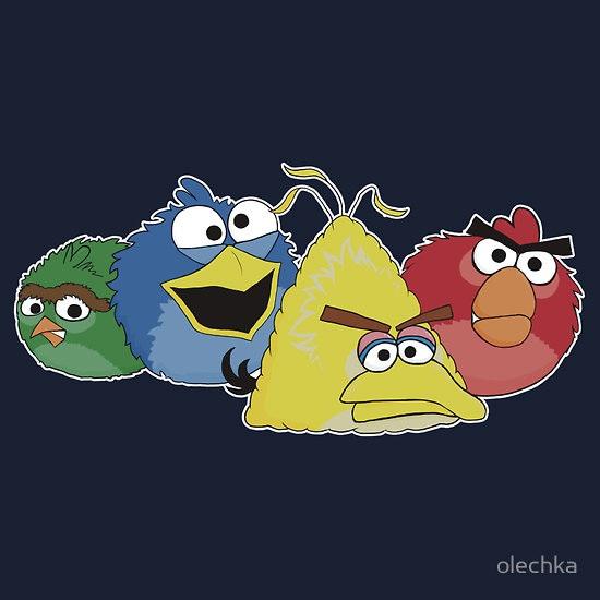 Angry Birds Meet Sesame Street