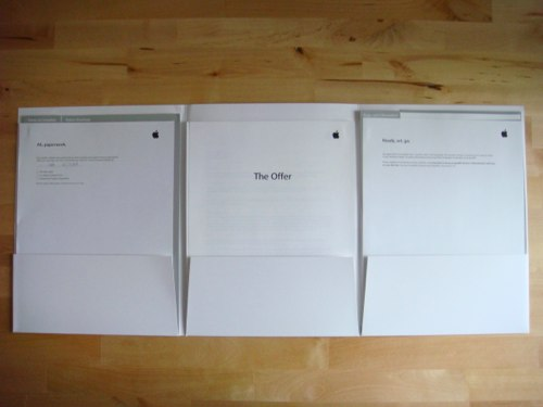An Unboxing of a Apple Job Offer Letter