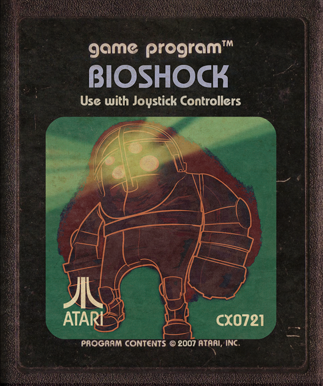 Modern-Day Video Games Reimagined as Retro Atari Cartridges