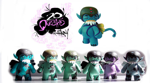 Qwezshun by Attaboy, Limited Edition Hand Painted Figures