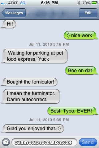 Damn You, Auto Correct! is hilarious collection of auto correction gone