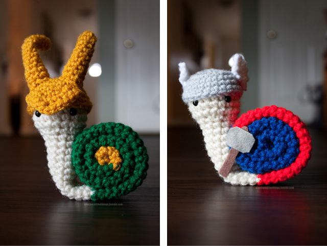 Snail Avengers Amigurumi : Avengers Snail Amigurumi Plushies