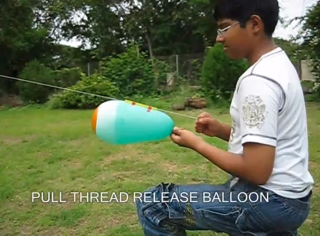 Balloon rocket by Toys from Trash