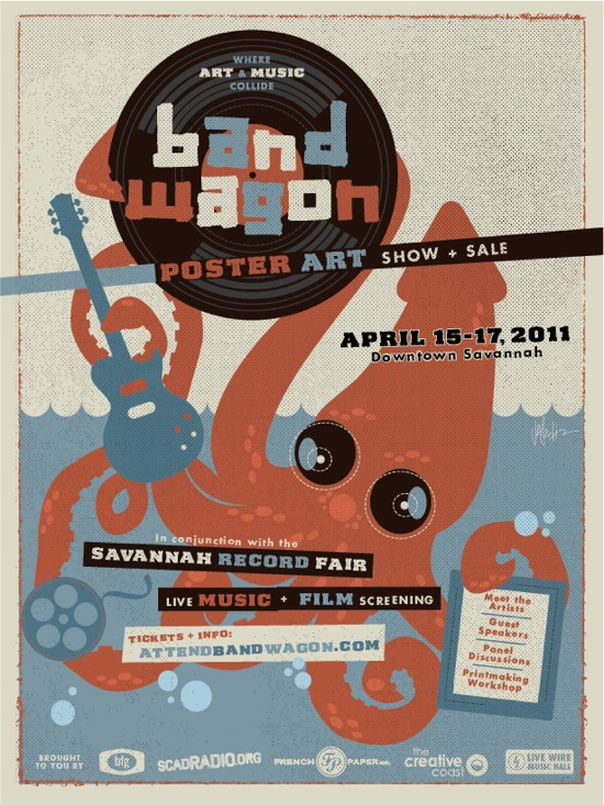 Band Wagon Poster Art Show Sale In Savannah