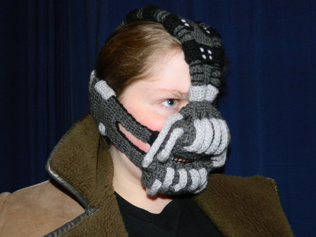 Crocheted Bane Mask Inspired By The Dark Knight Rises