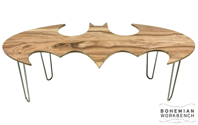 Carved Wood Batman Coffee Tables