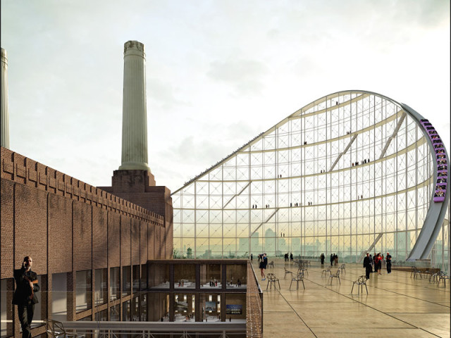 Battersea Power Station Roller Coaster