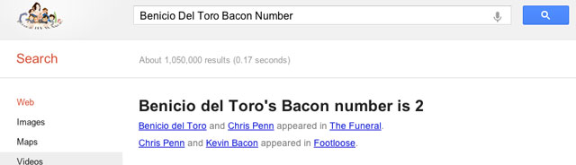 Google Six Degrees of Kevin Bacon