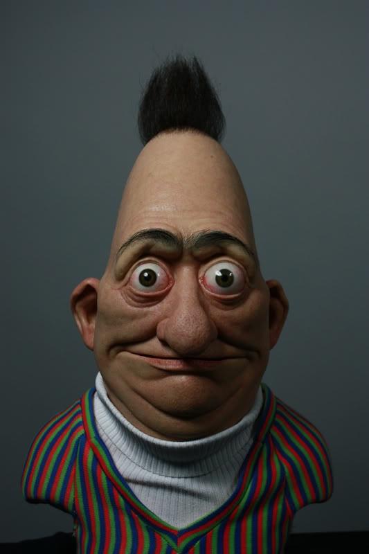 Creepy Real Life Version of Bert of Sesame Street