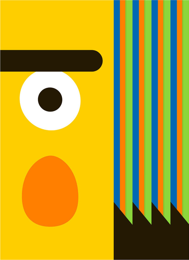 Minimalist Bert & Ernie Posters by Thom Pastrano