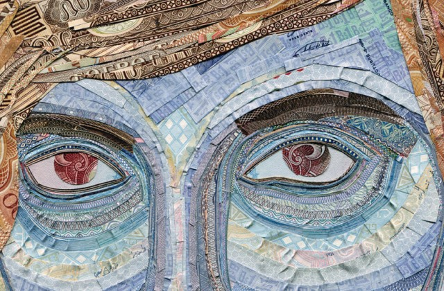 Currency Collage Portraits by Senseteam