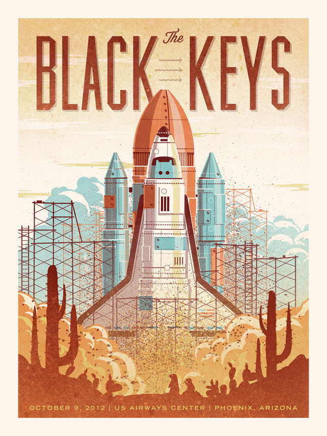 The Black Keys Gig Poster by DKNG Studios