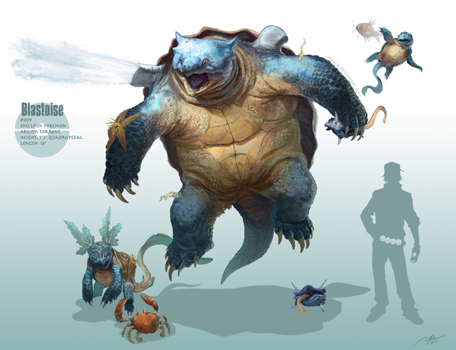 Realistic pokemon video game character illustrations by r for Naked fish sf