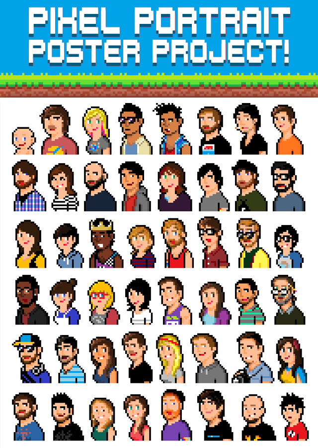 Pixel Portrait Poster Project
