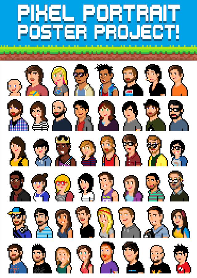 Pixel Portrait Poster Project