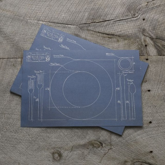 Blueprint Placemats by Cake Vintage