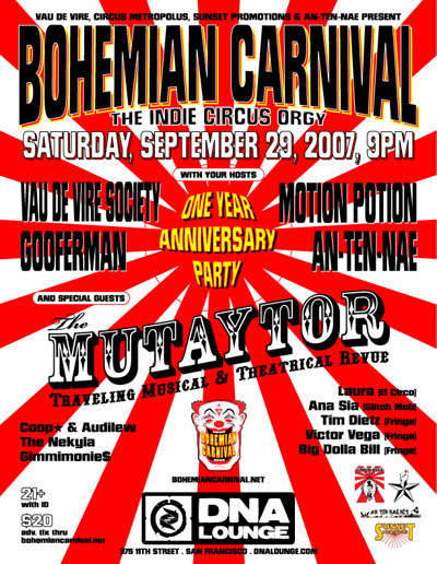 Bohemian Carnival One Year Anniversary Party