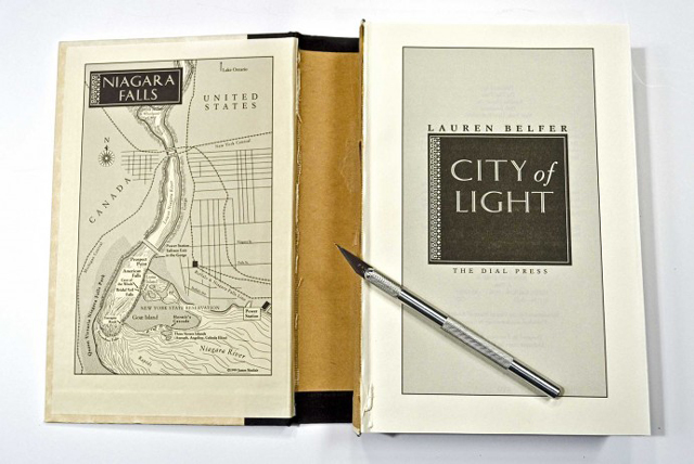 Not Your Ordinary Book Light, A Reading Light Inside of a Gutted Book
