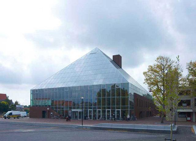 Book Mountain Dutch super library by MVRDV