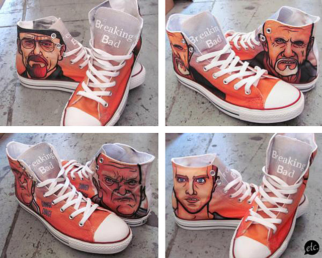 Converse Breaking Bad Shoes by Jon Defreest