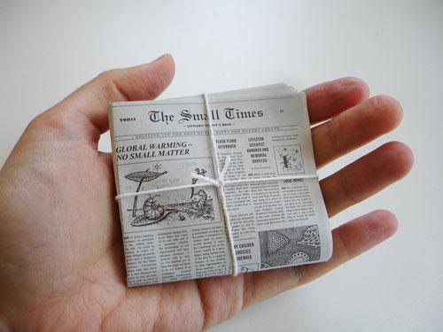 Resultado de imagen de periodicos en miniatura