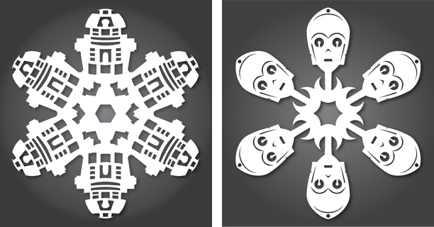 R2-D2 / C-3PO - Star Wars Snowflakes 2012 by Anthony Herrera