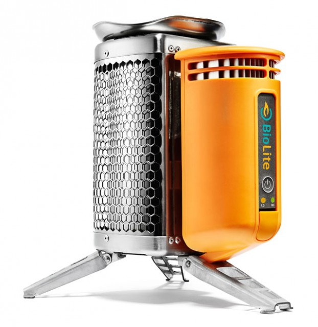 BioLite clean burning wood stove - BioLite, Clean Burning Wood-Fired Stoves That Generate Electricity