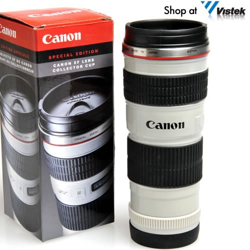 Canon EF Lens Travel Mug