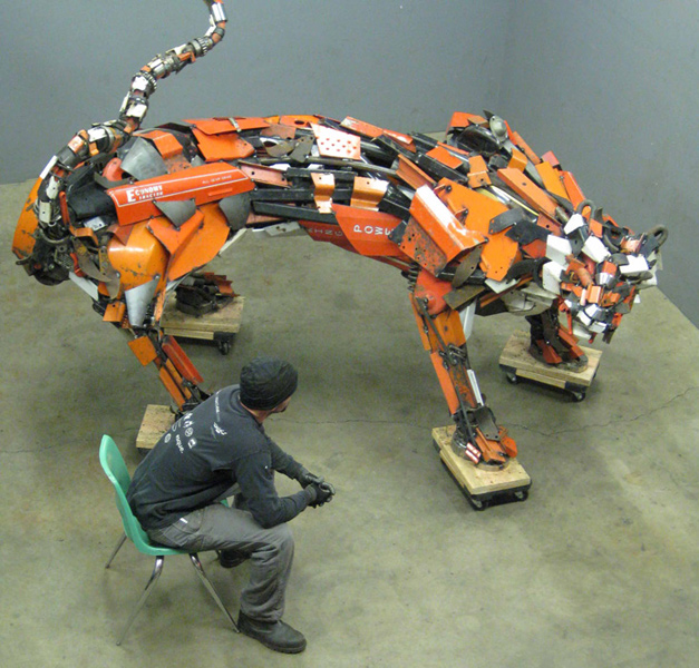 Scrap Metal Animal Sculptures by Robert Jefferson Travis Pond