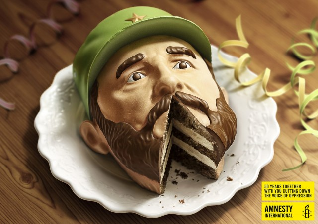 Dictator Cakes for Amnesty International