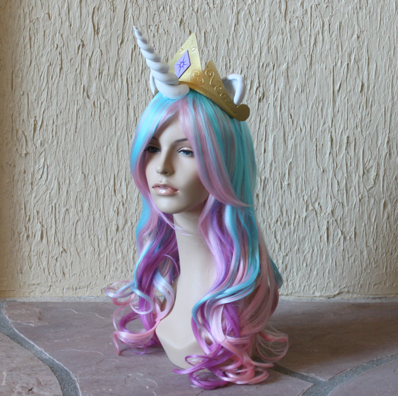 Unicorn and  My Little Pony  Costume Wigs and Tails 7f3ec6c00c75